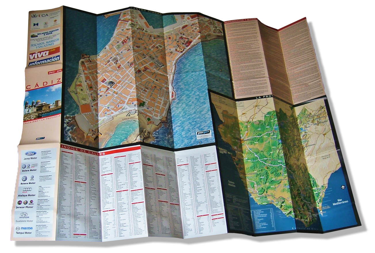 Plano impreso de Cádiz