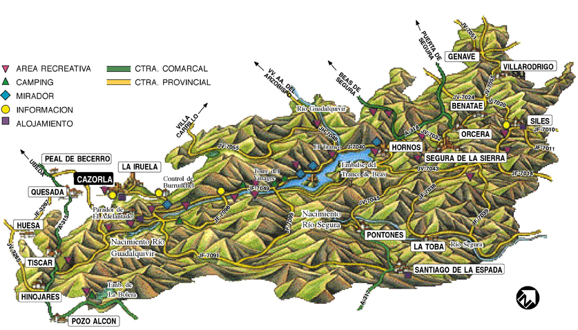 Mapa Sierra de Cazorla