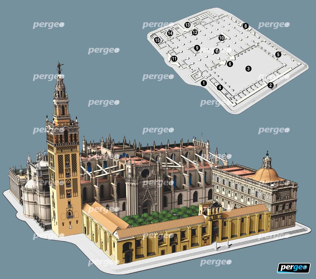 Mosque Floor Plan La Giralda Catedral De Sevillapergeo Es