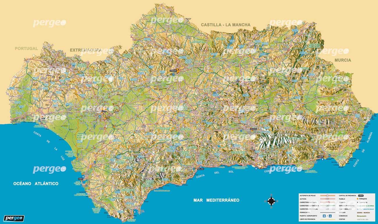 Mapa de Andalucapergeoespergeoes
