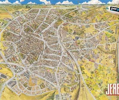 Plano Histórico de Jerez 1990