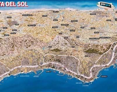 Plano Histórico de La Costa del Sol 1990