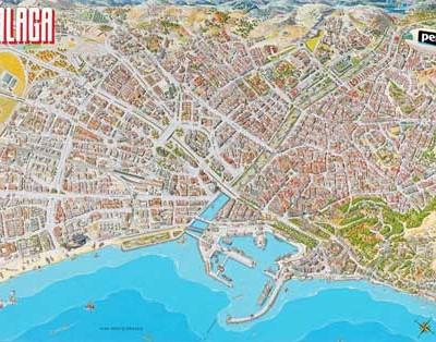 Plano Histórico de Málaga 1989